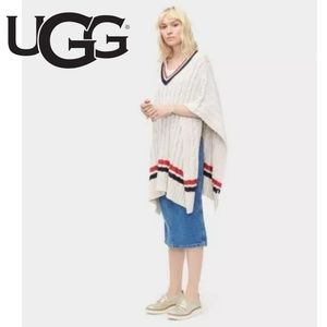 UGG Weslynn Sweater Poncho Cable Knit NWT